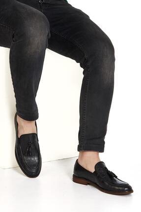 Muggo H052 Hakiki Deri Loafer Erkek Ayakkabı 1