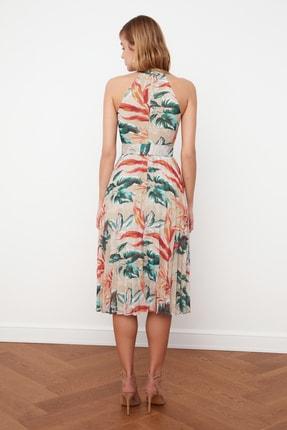 TRENDYOLMİLLA Çok Renkli Kemerli Desenli Elbise TWOSS20EL1341 4
