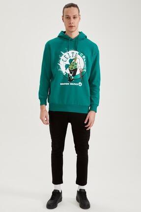 Defacto Nba Lisanslı Oversize Fit Unisex Kapüşonlu Sweatshirt 1
