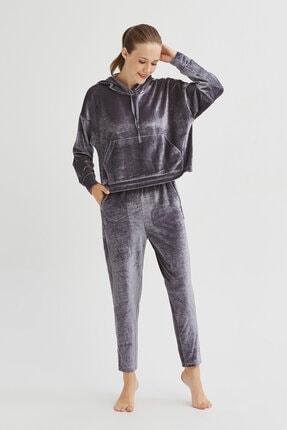 Penti Gri Velvet Sweatshirt 4
