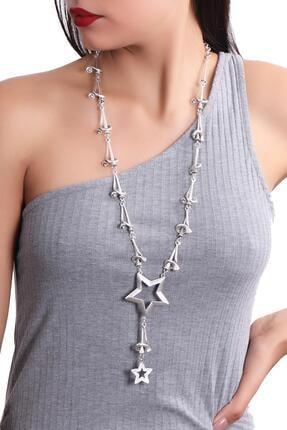 LABALABA Kadın Antik Gümüş Kaplama Bohem Kolye 0