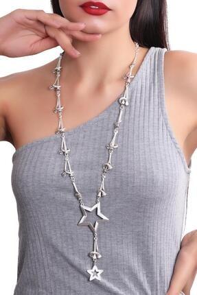 LABALABA Kadın Antik Gümüş Kaplama Bohem Kolye 1