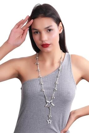 LABALABA Kadın Antik Gümüş Kaplama Bohem Kolye 2