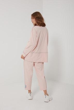 oia W-0943 Pudra Pamuklu Tunik Pantolon Takım Eşofman Takım 4