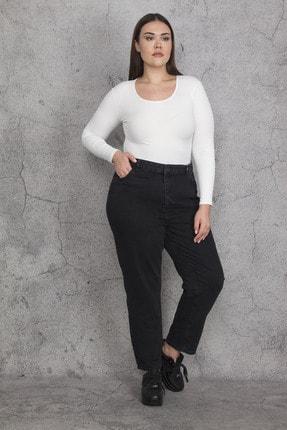 تصویر از Kadın Antrasit 5 Cepli Kot Pantolon 65N22113