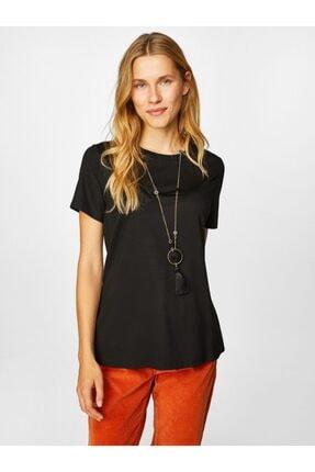 Faik Sönmez Kadın Yuvarlak Yaka Kısa Kol T-shirt 4