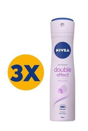 Nivea Double Effect Mor Düşler Kadın Deodorant 150 Ml X 3 0