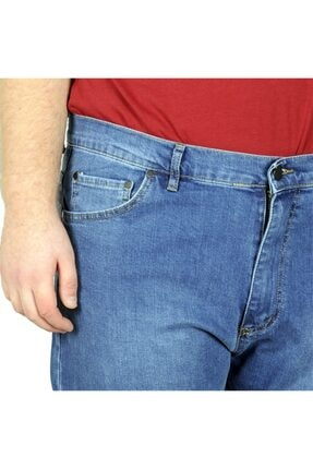 Modexl Büyük Beden Erkek Pantolon Kot Barbara 20905 Mavi 3
