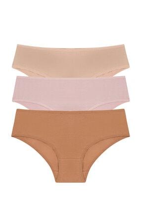Penti Çok Renkli Cover Colors Perfect Nude 3lü Slip Külot 0