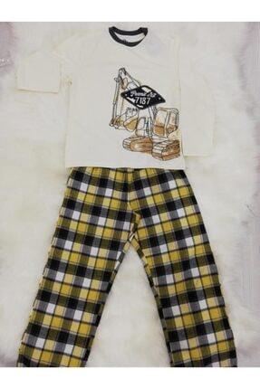 Wonder Kids Erkek Çocuk  Buldozerli  Mevsimlik Pijama Takımı 0