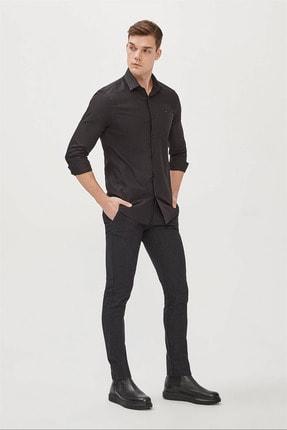 Avva Erkek Siyah Düz Klasik Yaka Slim Fit Gömlek E002002 3