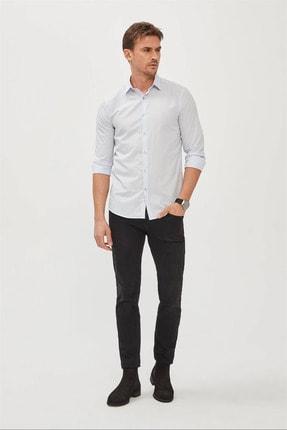 Avva Erkek Mavi Düz Klasik Yaka Slim Fit Gömlek E002002 3