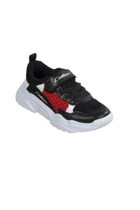 تصویر از 054 F.ayk Siyah-kırmızı Çocuk Spor Ayakkabı