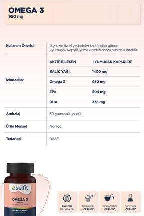 Eczacıbaşı Selfit Omega 3 950 Mg 30 Kapsül Balık Yağı- Son Kullanma Tarihi: 07.2022 2