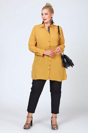 Büyük Moda Şeritli Tunik/gömlek 2