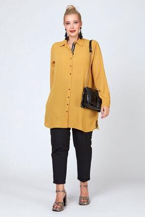 Büyük Moda Şeritli Tunik/gömlek 4