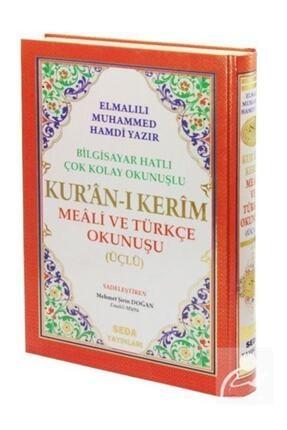 Seda Yayınları Kuranı Kerim Meali Ve Türkçe Okunuşlu Rahle Boy Bilgisayar Hatlı Üçlü Kod.004 0