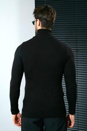 Sateen Men Erkek Siyah Tam Balıkçı Triko 20KTR335E100 3