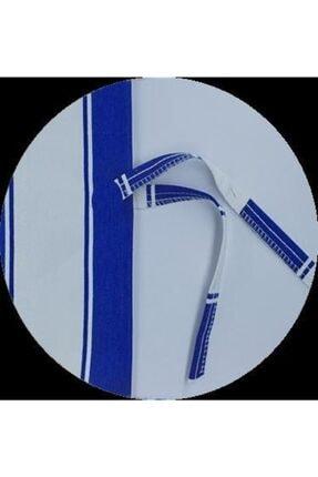 ALTINPAMUK Her Ölçüde Enxboy Seçenekli Bağcıklı Balkon Perdesi Balkon Brandası Mavi Beyaz 3