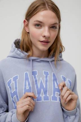 Pull & Bear Gri Hawaii Sweatshirt 3