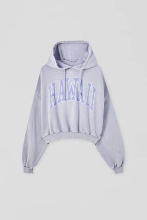Pull & Bear Gri Hawaii Sweatshirt 4