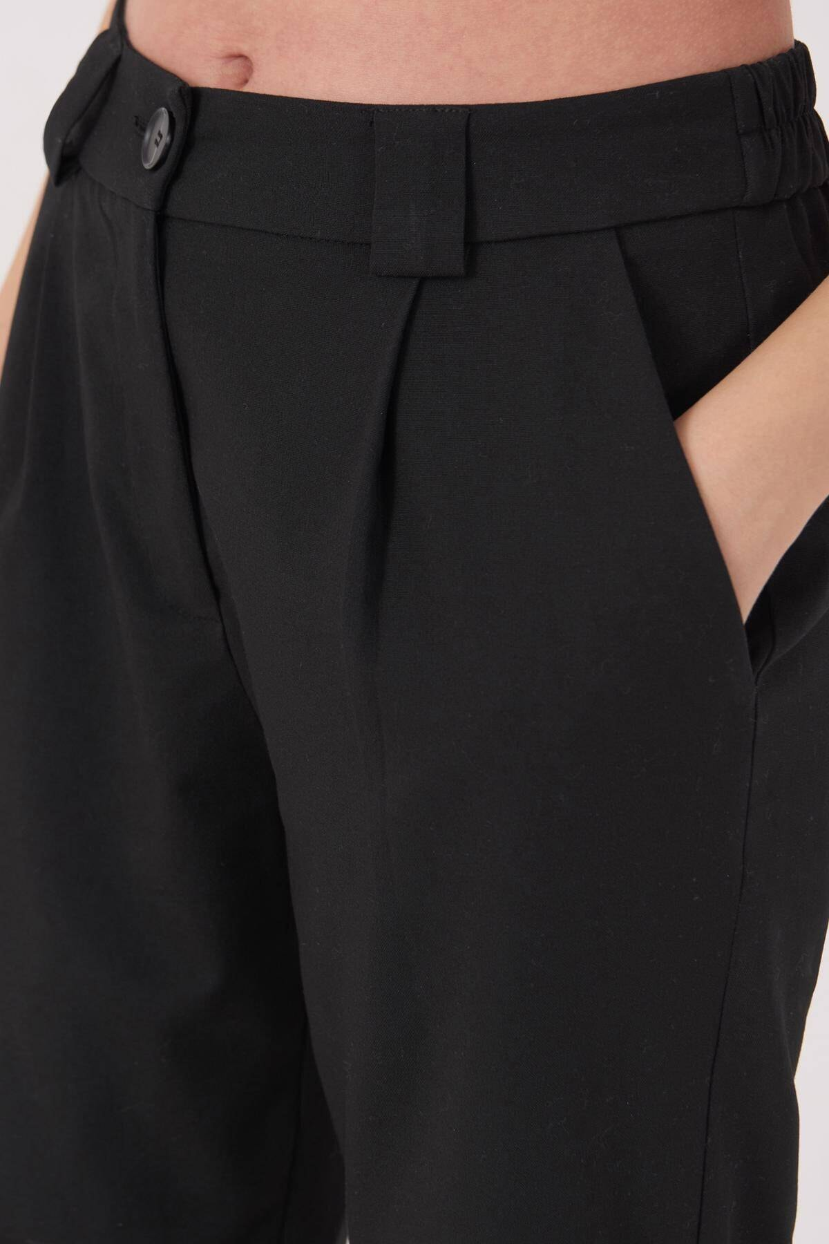 Addax Kadın Siyah Cep Detaylı Pantolon Pn8096 - E6 Adx-0000023579 2