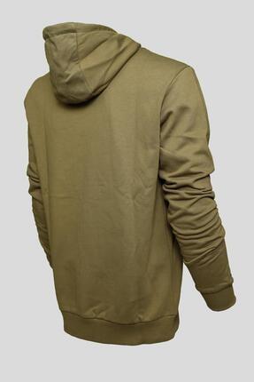 BESSA Unisex Kapüşonlu Sweatshirt Kanguru Cepli Haki 1