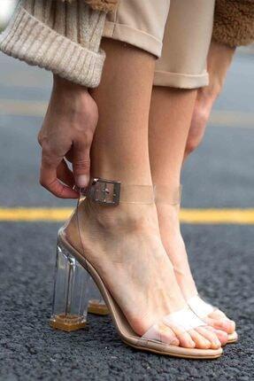 Gökçe Shoes HYALO ŞEFFAF NUDE TOPUKLU AYAKKABI 0