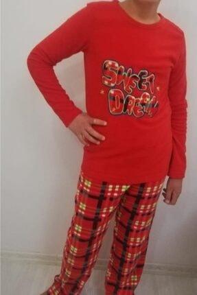 Haluk Bayram Ba Ha Polar Pijama Takımı Kırmızı 0