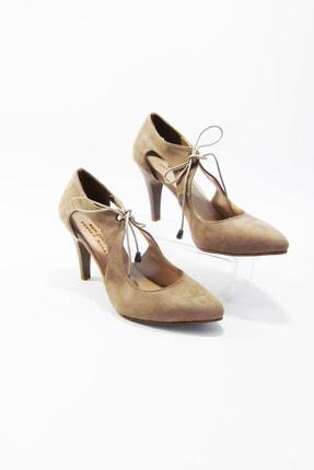 Kadın Krem Rengi Şık Topuklu Ayakkabı BAYTOPKREM