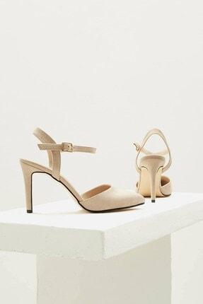 Mio Gusto Lucia Bej Bilek Bantlı Topuklu Ayakkabı 4