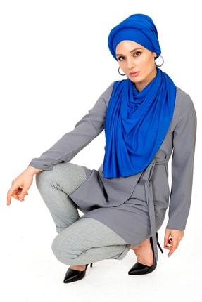 LadyColor Kadın Mavi Penye Şal 0