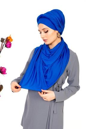 LadyColor Kadın Mavi Penye Şal 2