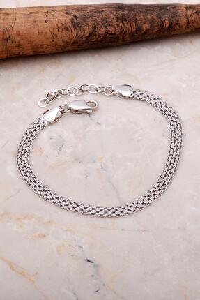 Sümer Telkari Italyan Ezme Hasır Örgü Gümüş Bileklik 3532 0