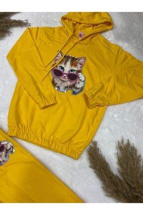 nacar çarşı Kız Çocuk Kedili Pijama Takım 1
