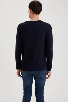 Defacto Uzun Kollu Esnek Dokulu Slim Fit Basic Tişört 3