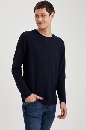 Defacto Uzun Kollu Esnek Dokulu Slim Fit Basic Tişört 4