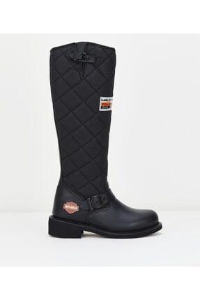 Harley Davidson Kadın Siyah Çizme 0