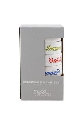Mudo Concept Colorful Espresso Seti 4'lü 105ml 2