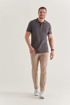 Avva Erkek Antrasit Polo Yaka Düz T-shirt A11b1146 3