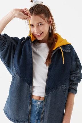 Mavi Kadın Kapüşonlu İndigo Ceket 110815-10241 1