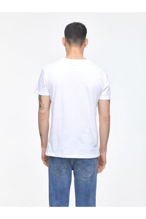 Ltb Erkek  Beyaz  Baskılı  Kısa Kol Bisiklet Yaka T-Shirt 012208453260890000 3
