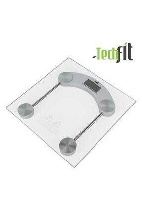 Techfit Dijital Tartı Temperli Cam Kare Baskül Terazi Banyo Baskülü 180kg Tf1052 1