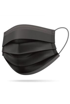 """UPTREND 3 Katlı Siyah Medikal Maske """"50"""" Adet 0"""