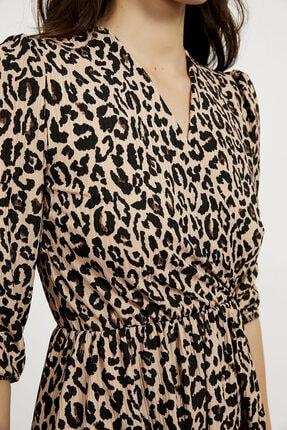 Arma Life Kadın Kahverengi Kruvaze Kaşkorse Elbise 3