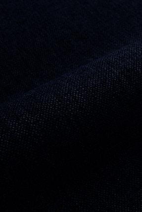 Belle Cose Keten Görünümlü Blackout Karartma Termal Lacivert Fon Perde Tek Kanat 2