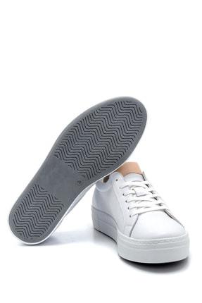 Derimod Kadın Beyaz Deri Sneaker 3
