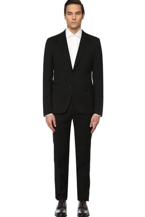 Picture of Erkek Drop 6 Siyah Yün Takım Elbise 1072976