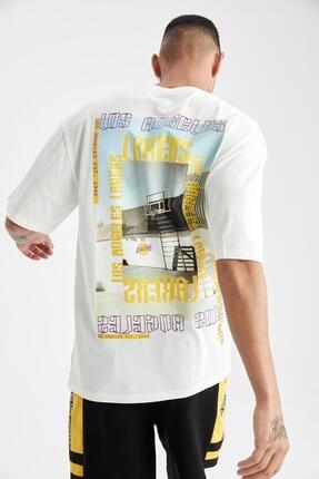 Defacto Oversize Fit Nba Lisanslı Tişört 0
