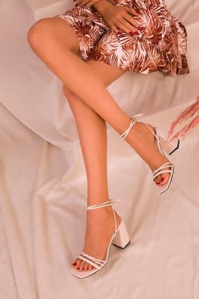 Soho Exclusive Bej Kadın Klasik Topuklu Ayakkabı 16175 3